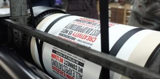 Behance Manifesto - Letterpress Poster - print process