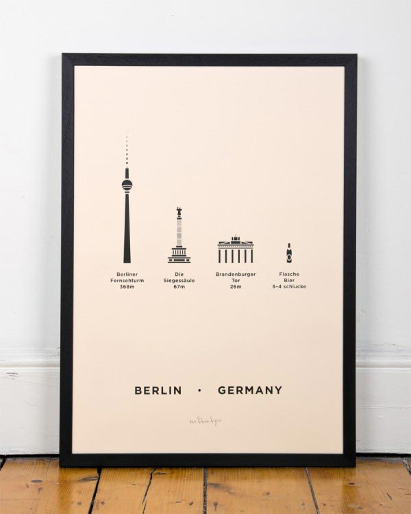 Berlin City Screenprint by me&him&you