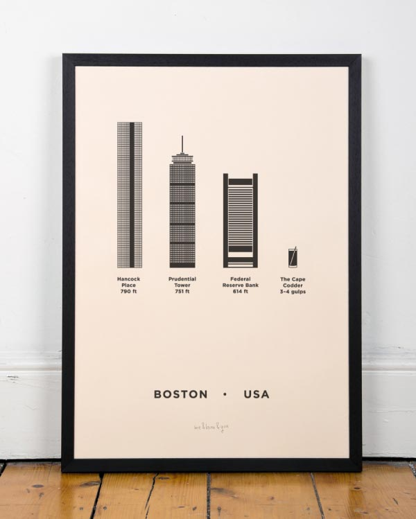 Boston City Screenprint by me&him&you