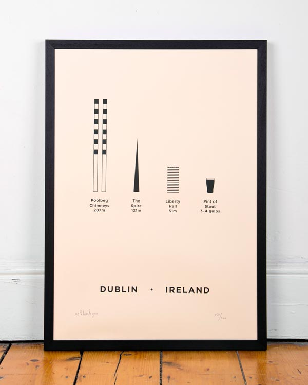Dublin City Screenprint by me&him&you