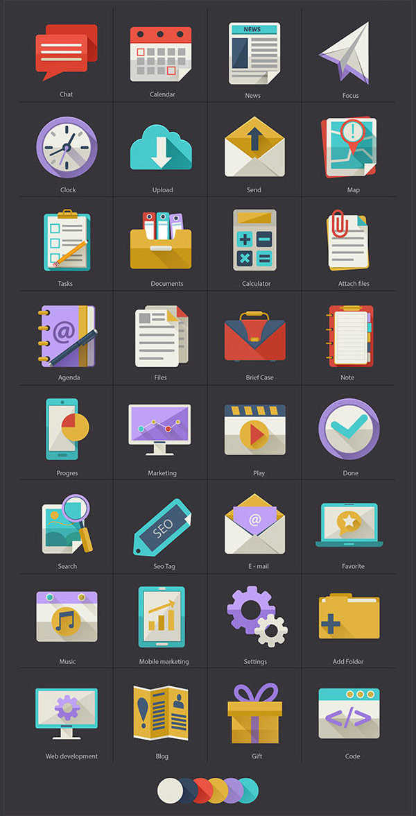 Flat Icons by Diana Costin