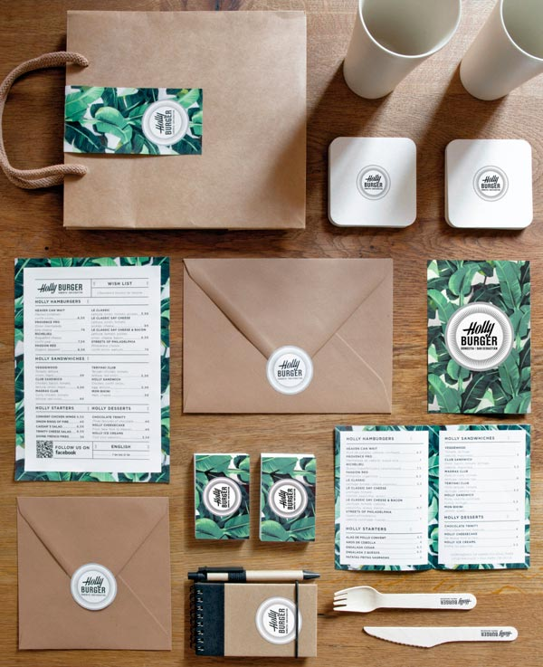 Holly Burger Brand Identity