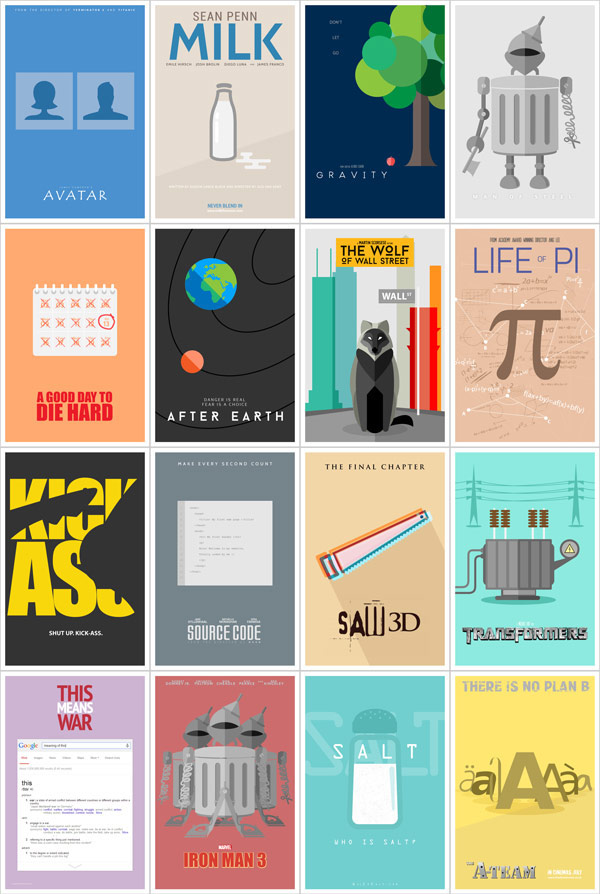 literal movie posters by danish ahmed