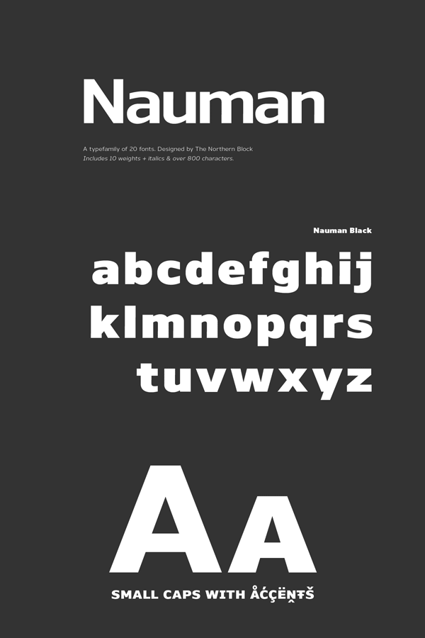 Nauman Type Family by The Northern Block