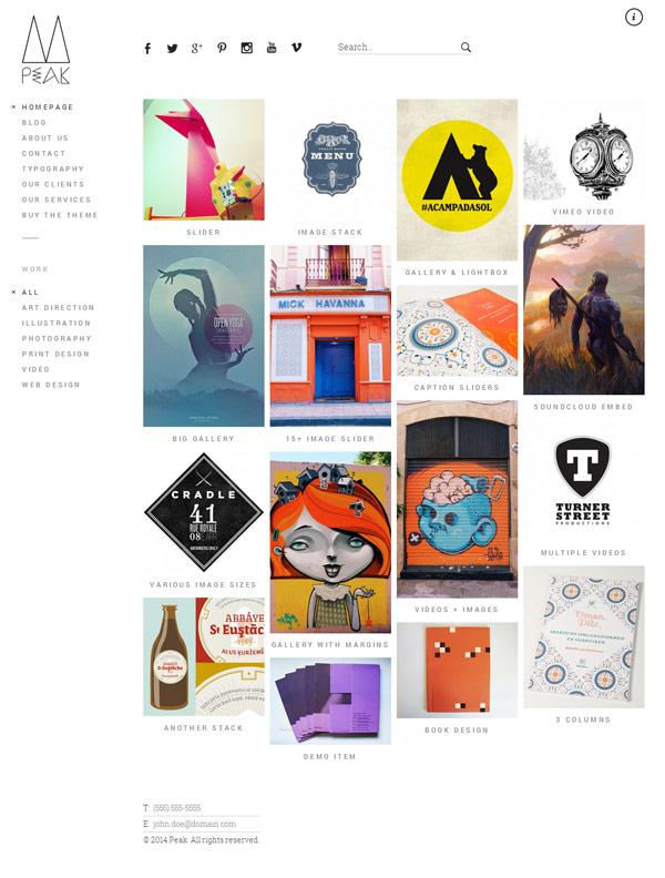 Peak – Responsive WordPress Portfolio Theme