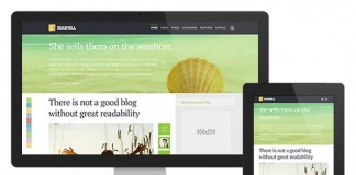 SeaShell - Responsive WordPress Blog Theme