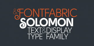Solomon - Text and Display Type Family from Fontfabric