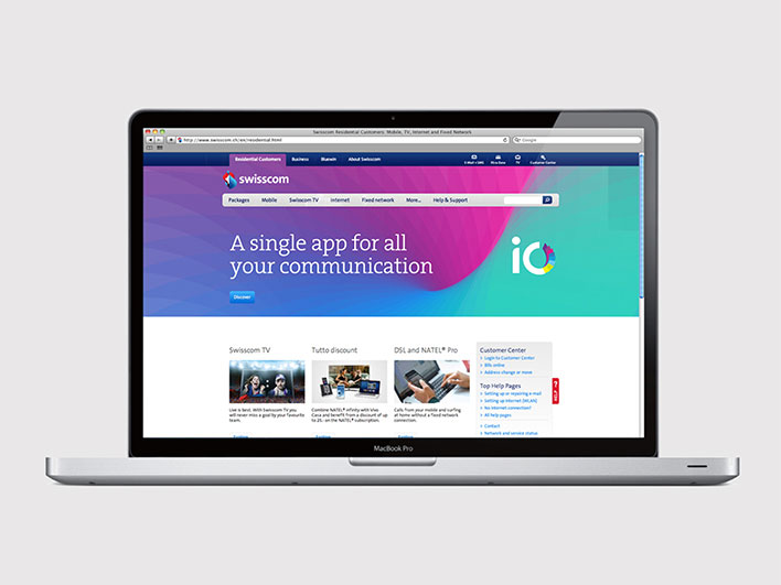 Swisscom iO - Website