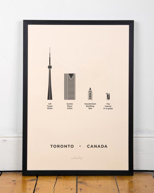 Toronto City Screenprint by me&him&you