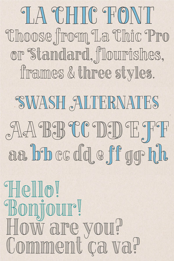 La Chic - Handmade Font Family from Cultivated Mind