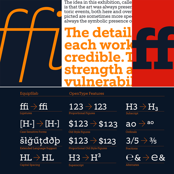 Equip Slab – Font Family by Hoftype