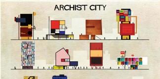 Archist City - Illustrations by Federico Babina