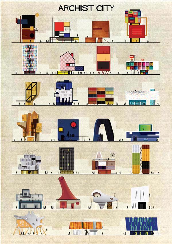 Archist City - Illustrations by Federico Babina Portfolio