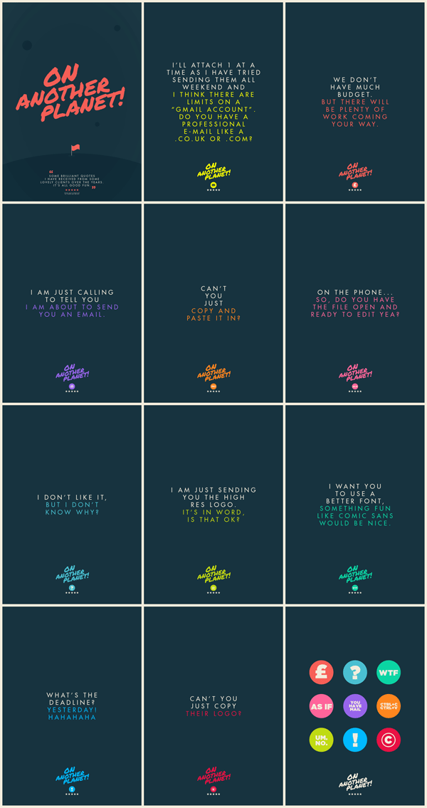 Client Quotes Posters by Jonathan Quintin
