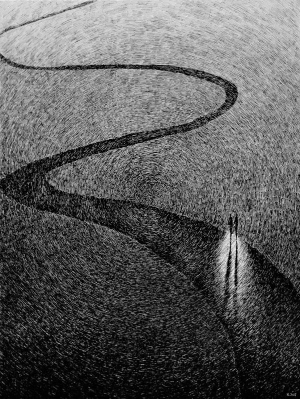 Fingerprint – Black Ink Drawings by Nicolas Jolly