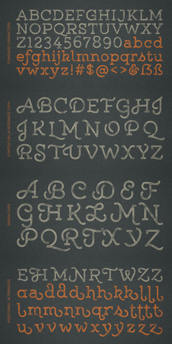 Gist Rough – Letterpress Font from Yellow Design Studio