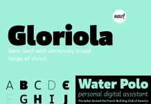 Gloriola Font Family from Suitcase Type Foundry