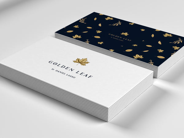 Golden leaf brand identity golden leaf business cards by daniel lasso casas colourmoves Image collections