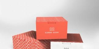 Karma Sushi Packaging Design by Kasper Gram