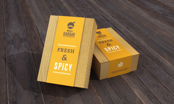 Masala Darbar, Indian Cafe & Restaurant - Packaging Design by Jekin Gala