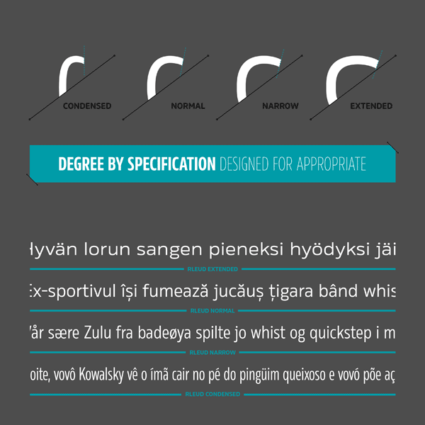 Rleud Font - Specifications