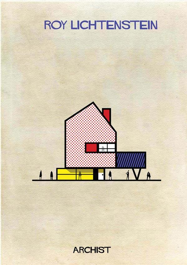 Roy Lichtenstein Archist Illustration by Federico Babina