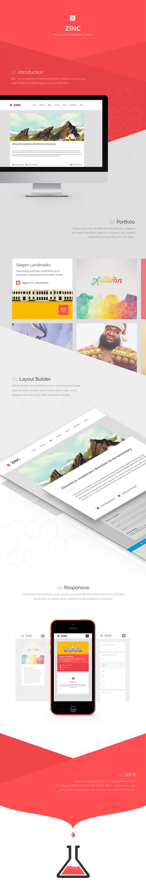 Zinc – Multi-Purpose WordPress Theme
