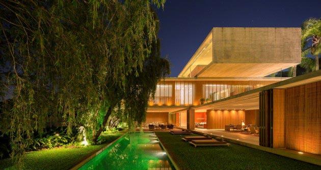 House p in s o paulo brazil by studio mk27 - The narrow house of sao paolo ...