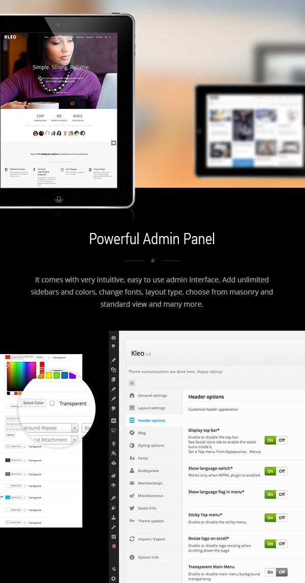 KLEO – Next Level Premium WordPress Theme with Powerful Admin Panel
