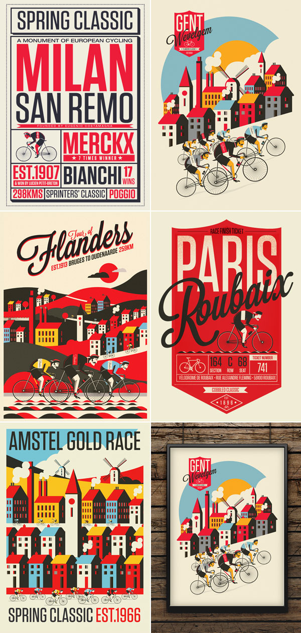 The Spring Classics – Vintage Print Series by Neil Stevens