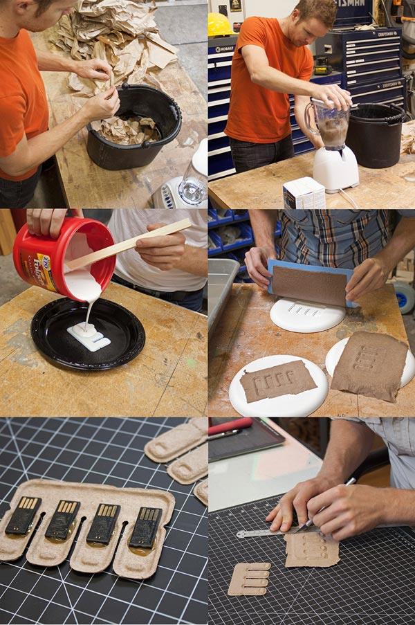 Handmaking of early prototypes.