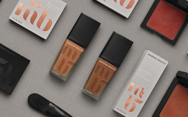 Maréna Beauté cosmetics visual identity by Bold