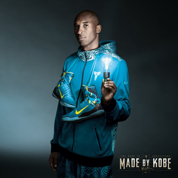 Kobe Bryant With Picasso Inspired Nike Flyknit Sneakers By