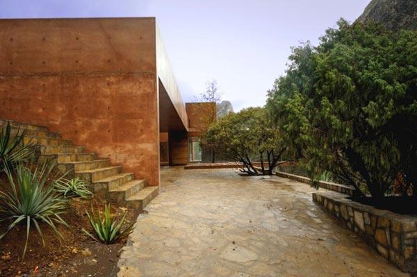 The exterior design of the Narigua House in El Jonuco, Mexico.