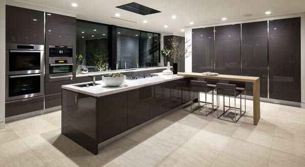 spacious and modern kitchen area