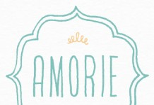 Amorie hand drawn typeface by Kimmy Design