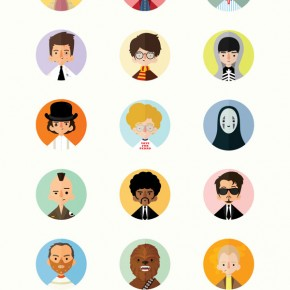 Illustrated Movie Characters by Rafael Lima