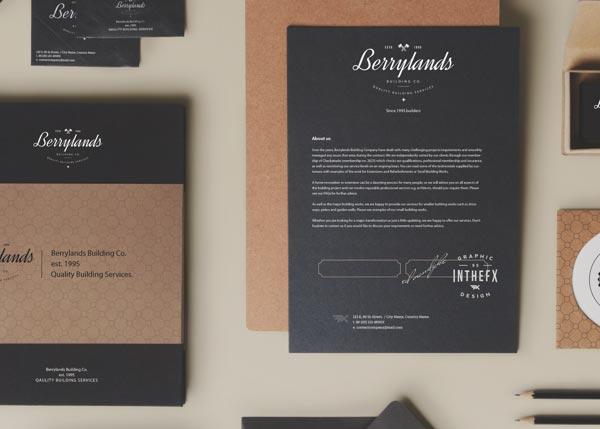 Branding by Ed Vandyke for Berrylands Building Co.