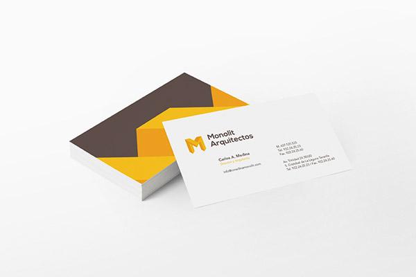 Business Card Design By Sergio Durango For Monolit Arquitectos