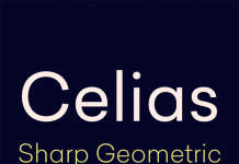Celias sharp geometric font family from Type Dynamic