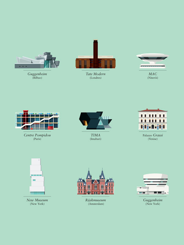 Architecture illustrations for Ideat magazine