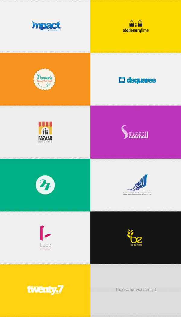 Logofolio from 2013 by Ahmed El Assy