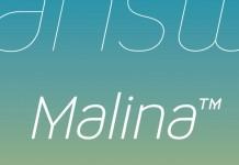 Malina sans-serif monoline typeface
