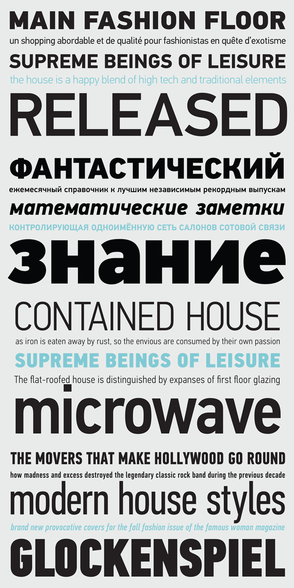 PF DIN Text Font Family from Parachute