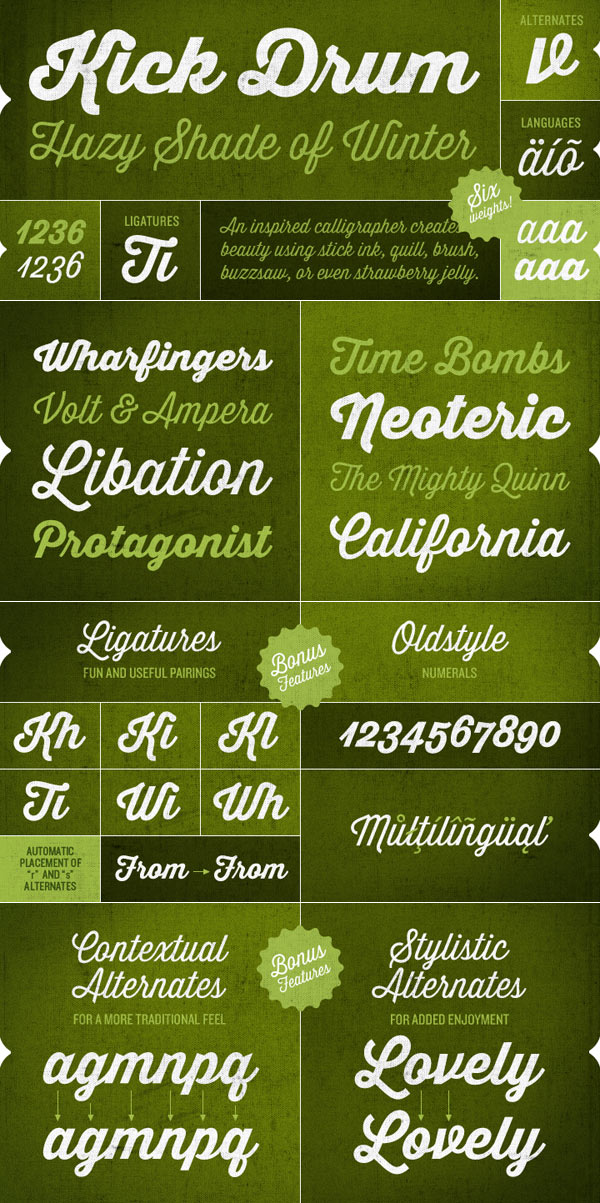 Thirsty Script – Vintage Font Family