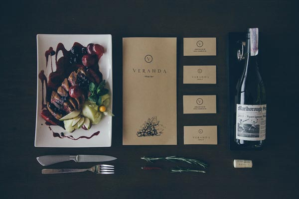 Veranda Restaurant Visual Identity by Forma Line