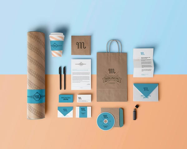 Mignon stationery design by Benoit Galangau