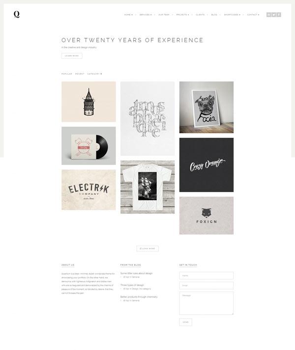Quantum - Portfolio and Photography WordPress Theme