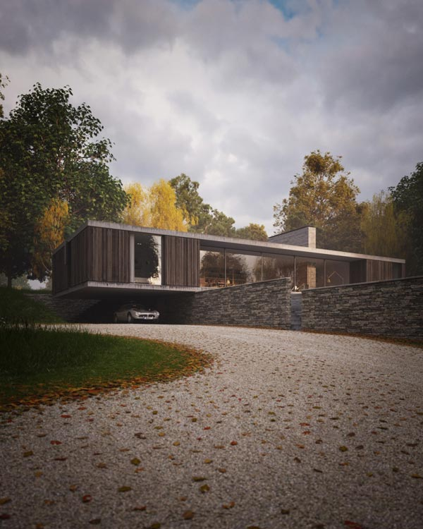 High Quality Architectural Renderings of a Replacement Dwelling in Swanage, UK