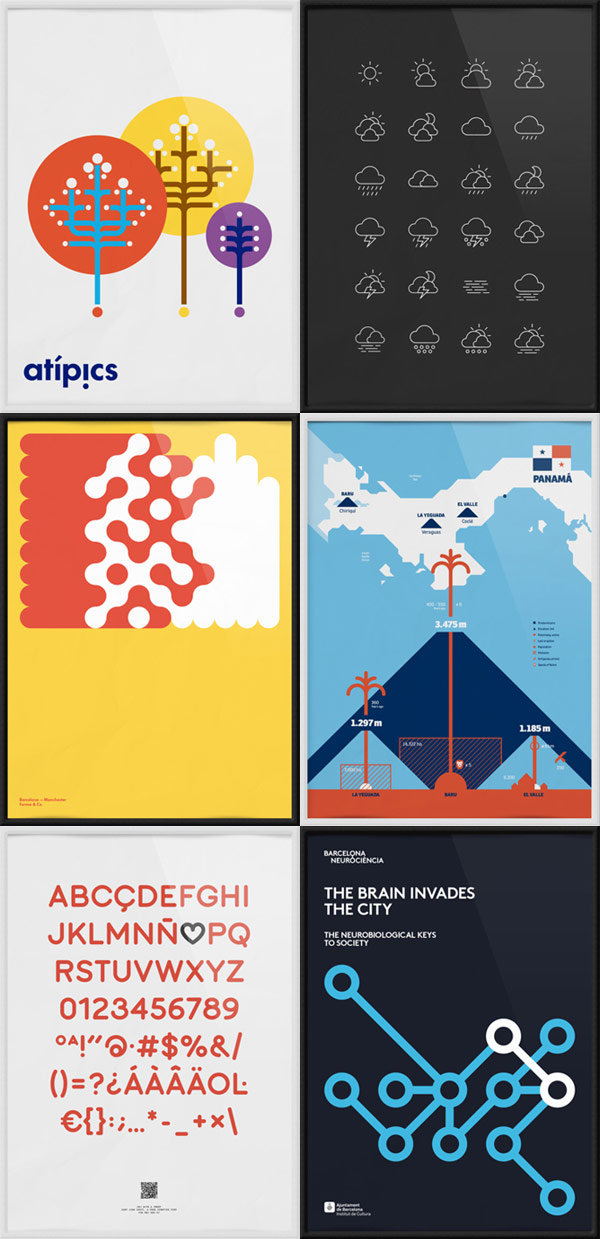 BCNMCR 2014 Exhibition Posters by Forma & Co